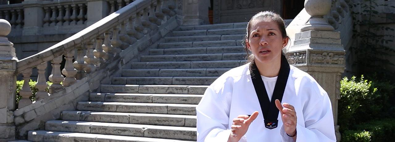 María Espinoza, Triple Medallista Olímpica y estudiante de UVM